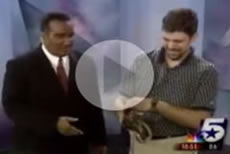 News Reporter And A Texas Rat Snake